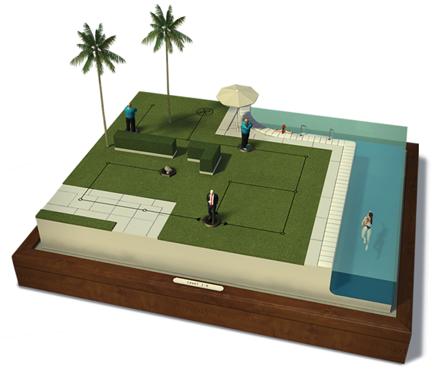 Hitman GO Game Board